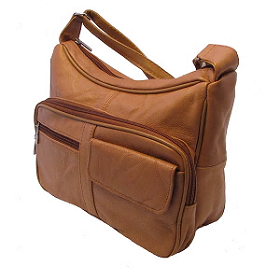 Continental Leather Versatile Two-in-One Leather Crossbody designer bag.