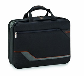 SOLO Vector Collection Smart Retractable Shoulder Strap Laptop Portfolio Airport Security Friendly Case, Black.